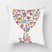 Fuwatacchi Home Decor Cartoon Cushion Cover Cute Stick Figure Couple Image Pillow Cover for Car Sofa Pillowcase 45cm*45cm fuwatacchi home decor cartoon cushion cover cute stick figure couple image pillow cover for car sofa pillowcase 45cm 45cm