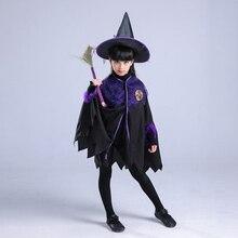 Children Halloween Constume Cosplay Clothing for Witch Set (Hat+Dress) Bat Dress Little Devil Night Party Fancy Dress Carnival