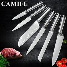 Нож из нержавеющей стали, набор кухонных ножей, аксессуары для фруктов, для очистки овощей, сантоку, шеф-повара, для нарезки хлеба, японский кухонный нож, набор