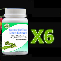 6 Bottle 600pcs Pure Green Coffee Beans Extract Fat Burning Weight Loss Slimming Support Curbs Appetite