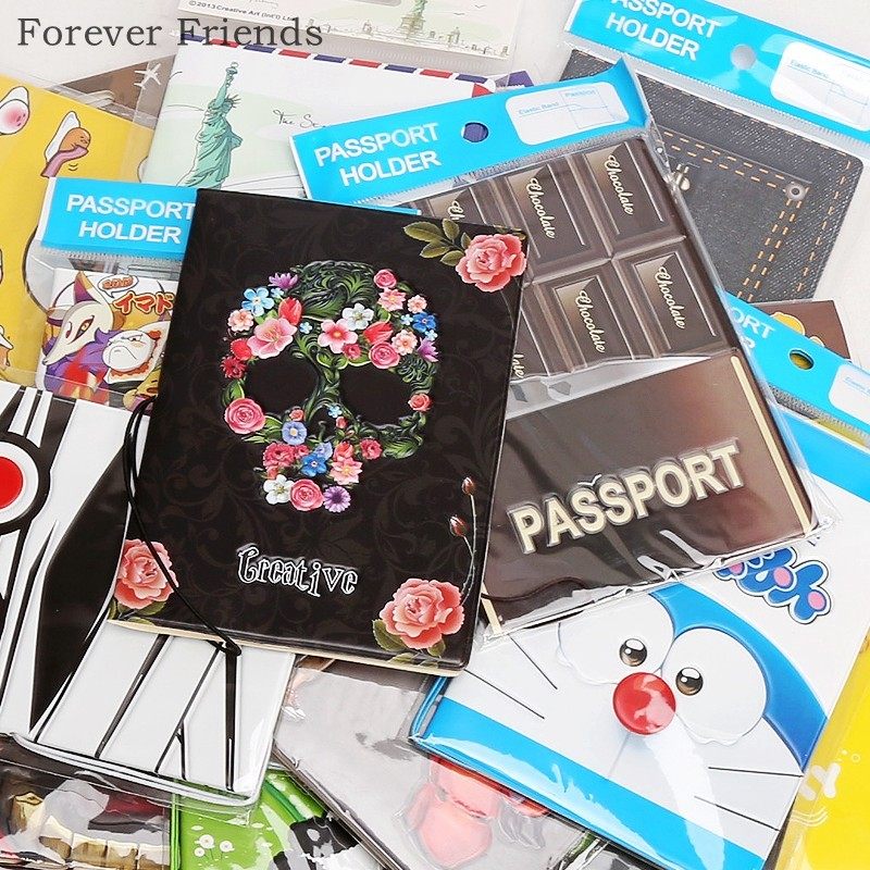 Wholesale 22 Styles Passport Holder Leather Passport Cover for Travel, Card Holder Bag 14*9.6cm ,I Love Travel hot overseas travel accessories passport cover luggage accessories passport card secret garden