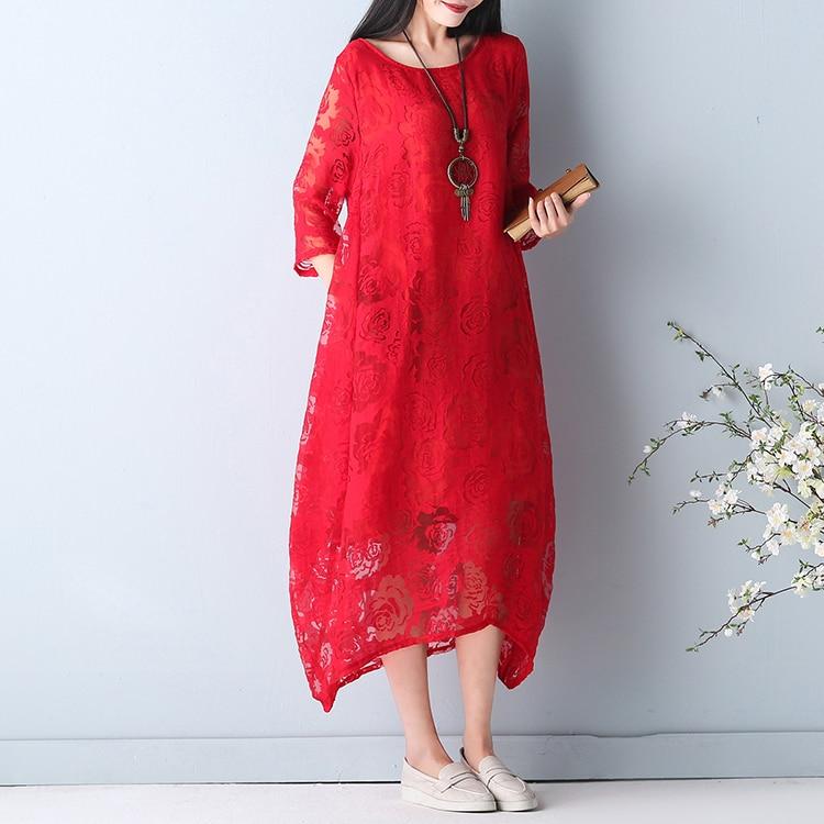 Plus Patchwork Sommer Kleid 18