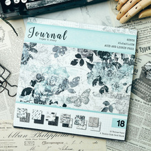 Vintage Journal Pattern Vellum Paper For Scrapbooking Happy Planner/Card Making/Journaling Project