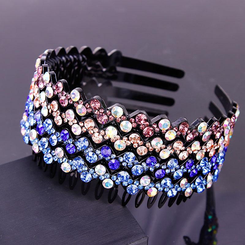 2018 New Luxury Colorful Shining Crystal Hairbands Women Elegant Headbands   Headwear   Hair Holder Lady Head Bands Hair Accessories