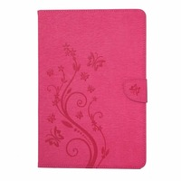 Tab E T560 Flip PU Leather Case Cover Stand Flower Print Case Stand For SAMSUNG Galaxy