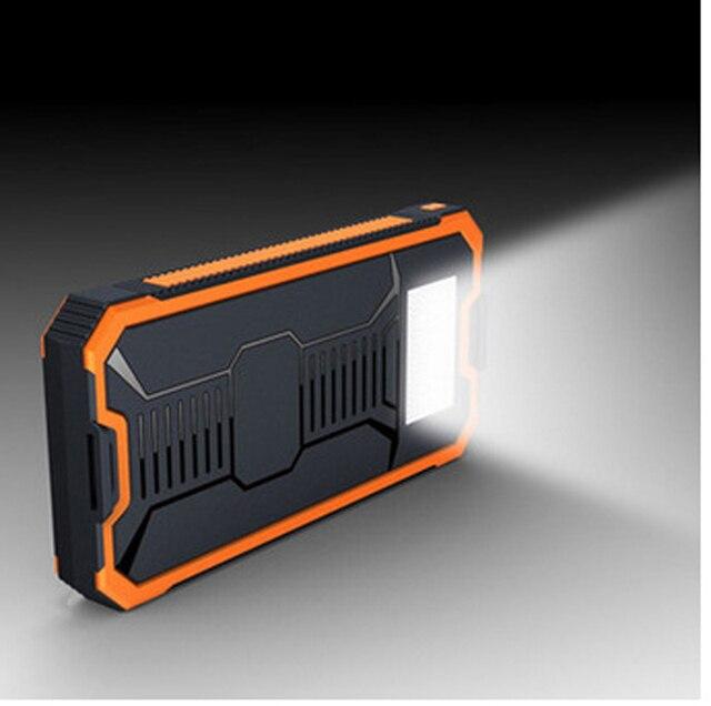 2016 Новый Солнечная Энергия Банк 20000 мАч Энергии Зарядное Устройство Dual USB Полимер Powerbank Портативное Зарядное Устройство С LED Camping Свет
