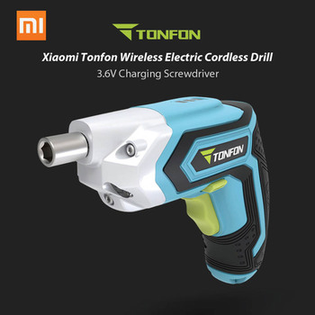 Xiaomi Tonfon Wireless Electric Cordless Drill Impact Gun Gill Power Screwdriver With Bits 3.6V 1500mAh Rechargeable Battery Smart Remote Control