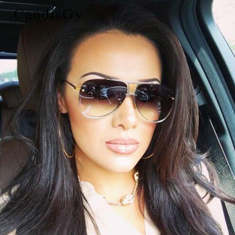 Hommes ou femmes Marque Designer lunettes de Soleil D'origine Femelle Dame UV400 Miroir Kim Kardashian Soleil Lunettes Full Metal 2016 Nouvelle Mode