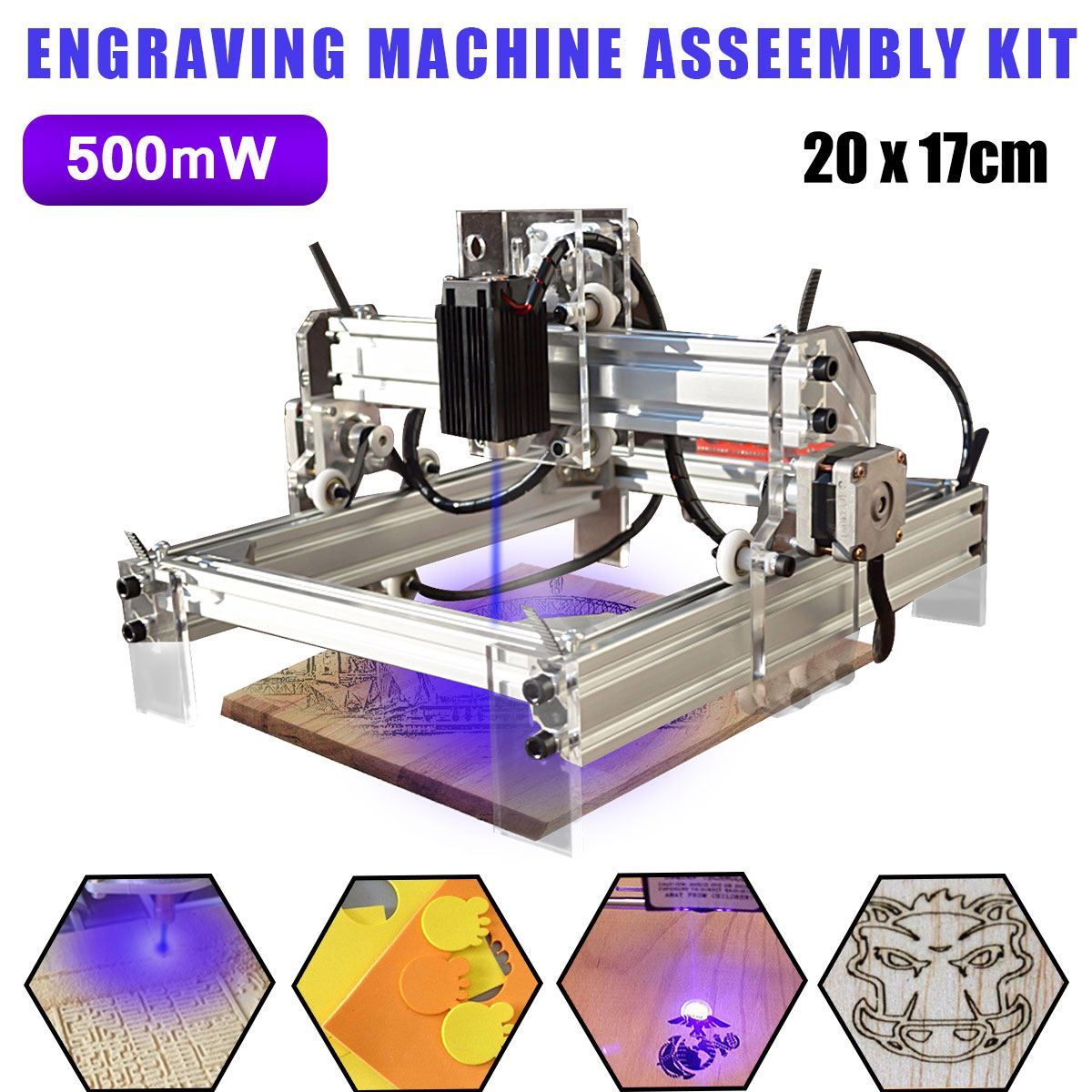 500mw Desktop Laser Engraving Engraver Cutting Machine DIY Logo Carving Printer