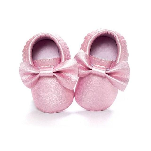 Baby Girls Shoes Tassels PU Leather Waterproof Baby Shoes Newborn Moccasin Soft Infants  Prewalker 18 colors 5
