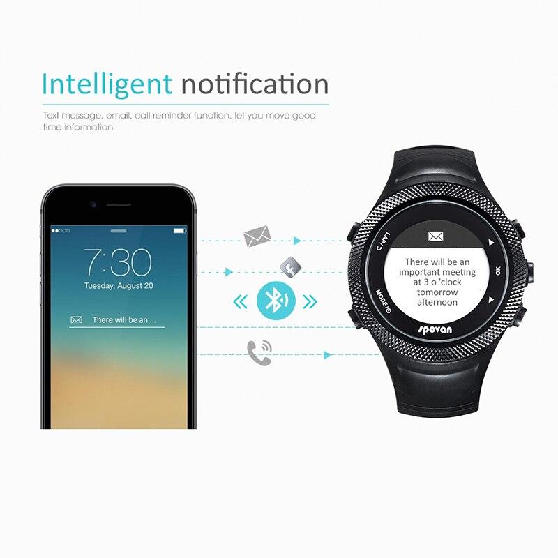 SUNROAD новые мужские часы с пульсом компас шагомер высотомер 5ATM водонепроницаемые цифровые зажимные спортивные часы Relogio - 4