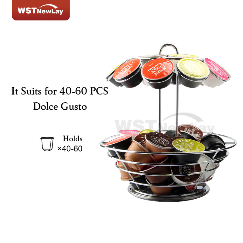 Dolce Gusto Nespresso Coffee Pod Holder Steel Metal Stand Rack Cafe Organizer Storage Capsule Shelf Free Shipping