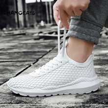 Hand-Woven Shoes Without Lace White Sneakers Men Trend 2018 Blue Shoes Male Size 46 School Cool Shoes Men's Footwear All Black