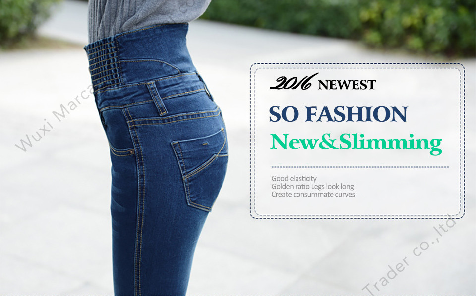 19 Jeans Womens High Waist Elastic Skinny Denim Long Pencil Pants Plus Size 40 Woman Jeans Camisa Feminina Lady Fat Trousers 3