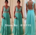 Brand new a line v neck chiffon beaded crystal floor length long mint green long bridesmaid dress bride maid dress