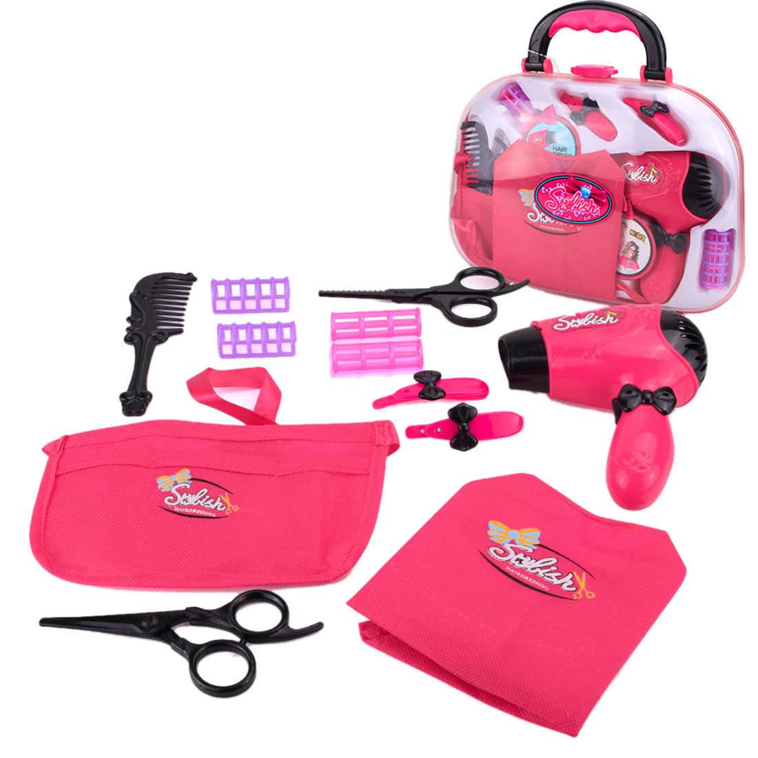 11 шт. ролевые и игровые игрушки, эмульсионная Парикмахерская электрическая сушилка для волос, набор для макияжа, игрушки для девочек, новинка