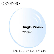 Optical Prescription Single Vision Aspheric HMC TCM UV Resin Prescription Lenses Myopia Astagmatism 1.56 1.60 1.67 1.74 index