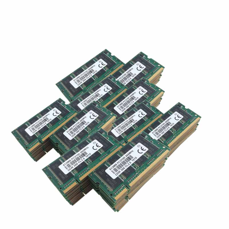 100pcs 100x512MB PC2100 DDR266 200PIN SODIMM 266mhz Laptop Memory CL2.5 SO-DIMM Notebook RAM NEW Free Shipping 2 гб ddr dimm 200 266 мгц