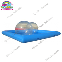Factory price inflatable blue swimming pool 6x4x0.65m children inflatable sand pool from China