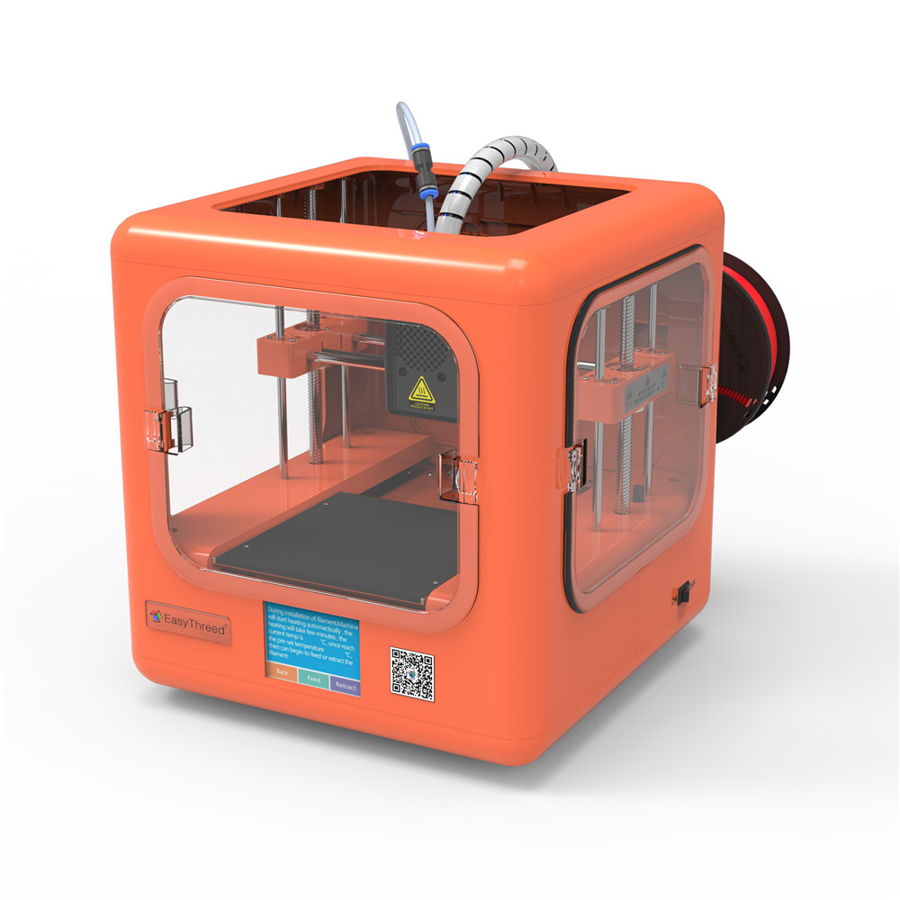 MINI 3D Printer DORA EasyThreed For Kids Teens Metal ABS in PLA Frame High Precision Extruder Board Bed Parts Kit No Assembly