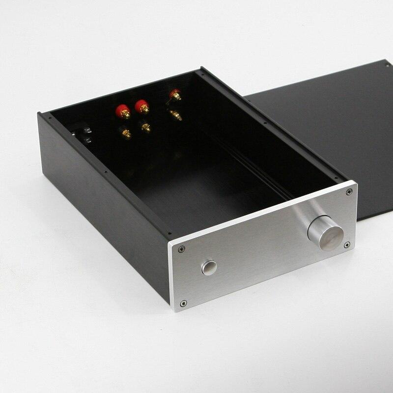 Boîtier d'amplificateur de puissance châssis en aluminium boîtier d'amplificateur de puissance bricolage W215 H80 L308