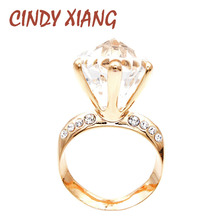 CINDY XIANG New Arrival Gold Color Large Circle Style Brooches For Women Fashion Shining Creative Jewelry Wedding Pins Good Gift