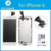 Для iPhone 6 ЖК-дисплей Дисплей Сенсорный экран планшета замена Ассамблеи (Фронтальная камера Рамка Главная Кнопка Динамик полный ЖК-дисплей) + Инструменты