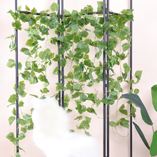 grape vine Artificial Ivy green Leaf Garland Plants Vine Fake Foliage Flowers Home Decor Plastic Flower Rattan string