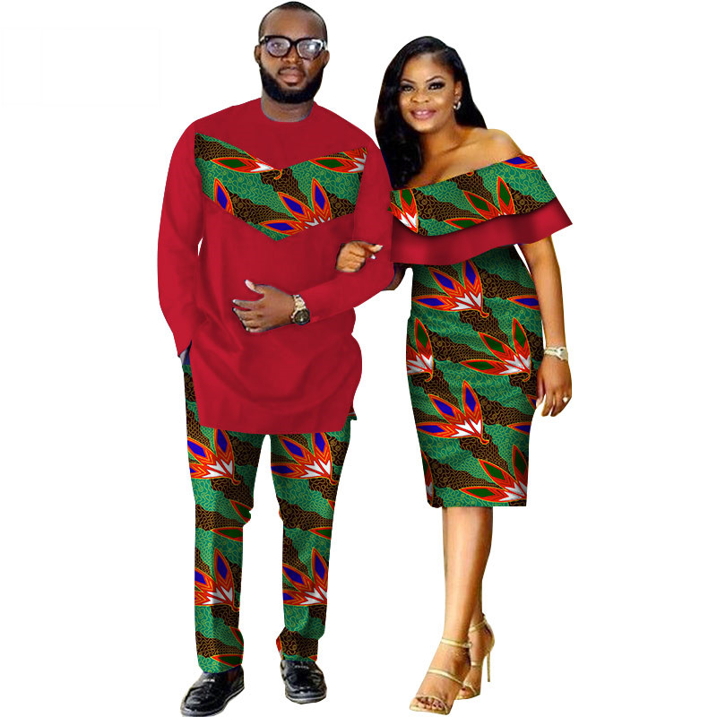 African-Dashiki-Print-Couple-Clothing-for-Lovers-Two-Piece-Set-Men-s-Suit-Plus-Women-s(3)