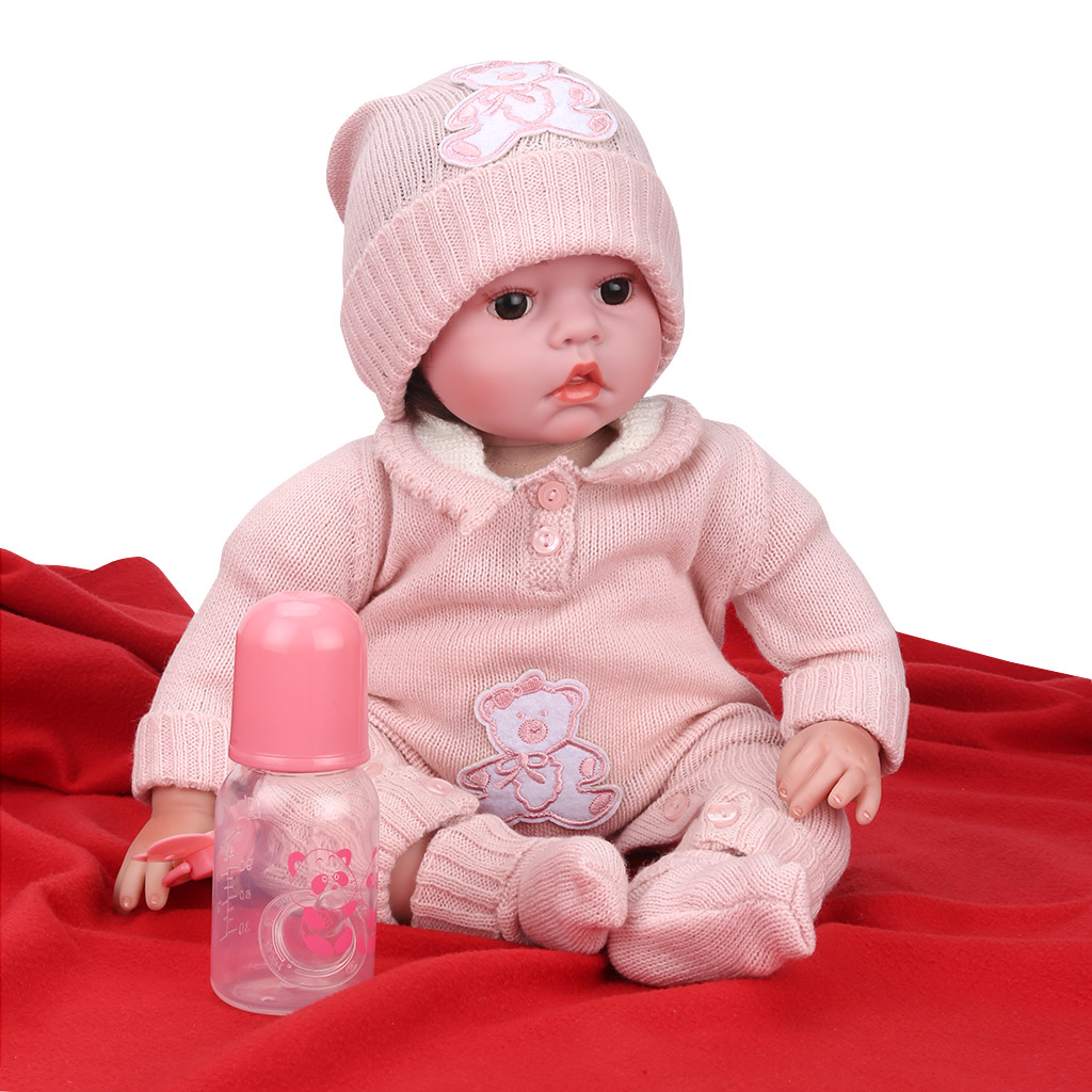 55cm/22inch Soft Body Silicone Reborn Baby Doll Toy For ...