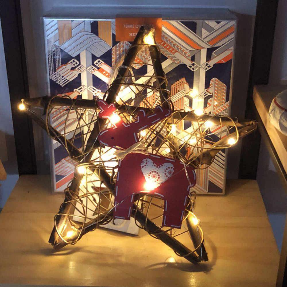 Горячий Рождественский венок струнный свет новогодний Праздник сказочные огни домашняя гостиная украшение Лампа Рождественская елка огни 18Oct