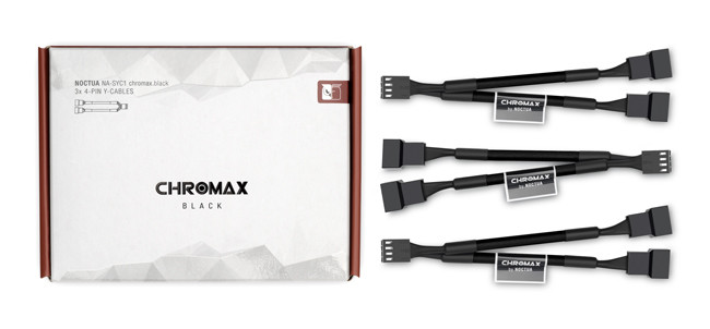 Noctua SYC1 Chromax Adaptor Cables CPU Cooling Fan  Fan Splitter Cable Y Splitter Computer PC Fan Power Cable 1 To 2 Converter