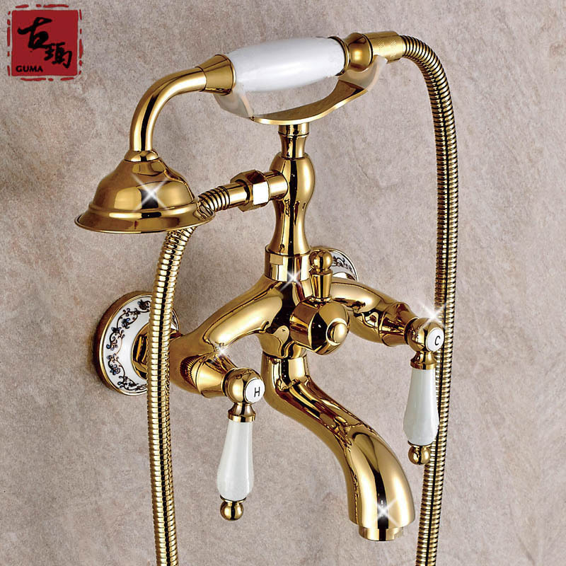 Guma brand authentic full bathroom copper bathtub faucet European ...