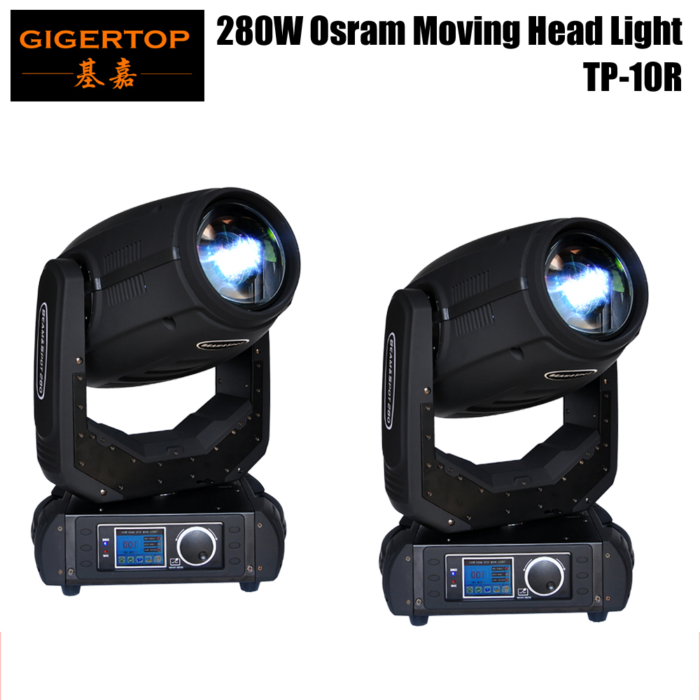 Freeshipping 2 Unit 280W Moving Head Light 10R Sharpy Beam Spot 2IN1 Frost Lens 8 Facet Prism Color/Gobo Wheels DMX 16/24 CH