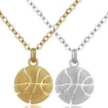 a0ffb90d1c0 Collier de basket-ball femmes en acier inoxydable chaîne collier Sport  hommes cadeau basket-ball amoureux Hip Hop bijoux