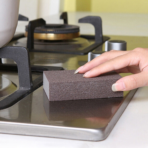 1pc Kitchen Nano Emery Magic Clean Rub Pot Rust Focal Stains Sponge Removing Kit 10cm x 7cm x 2.5cm