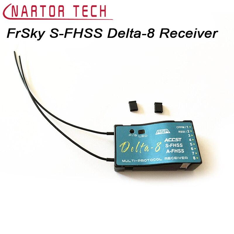 Livraison gratuite S FrSky S-FHSS 8CH Delta-8 récepteur pour Futaba 6J 8J 10J transmetteur RC pièces