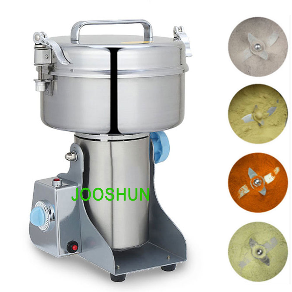 2000g Electric Grain Grinder Machine High Speed Swing Type 4100W Mill Powder Machine for Grinding Various