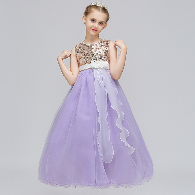 Sweet Purple Princess Dresses For Girls Birthday Party Dress With ...