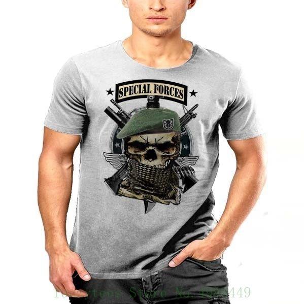 Us Army Special Forces T Shirt De Oppresso Liber Grim Reaper Green Beret Rangers T Shirt 100% Cotton