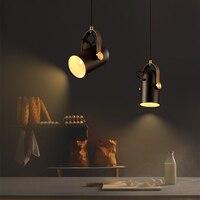 Nordic Pendant Lights LED Restaurant Bar Hanging Lights American Rural Style Dining Room Lamps Modern Simple