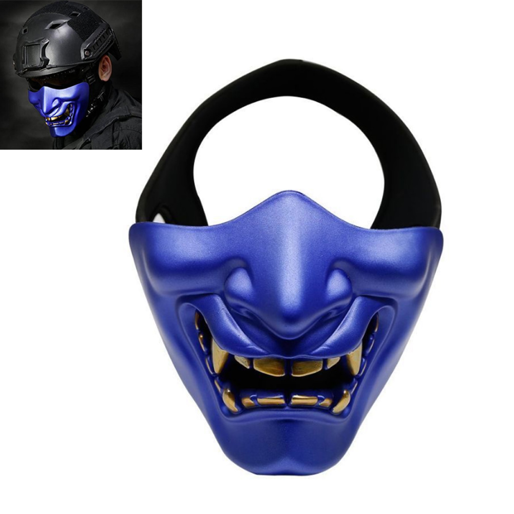 Halloween Horrible Scary Half Mask Lower Face Protective Cosplay Masks For Masquerade Costume ...