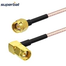 Superbat ВЧ-кабель SMA Мужской прямоугольный к SMA Мужской прямой патч-провод RG316D 70 см для Wi-Fi радио