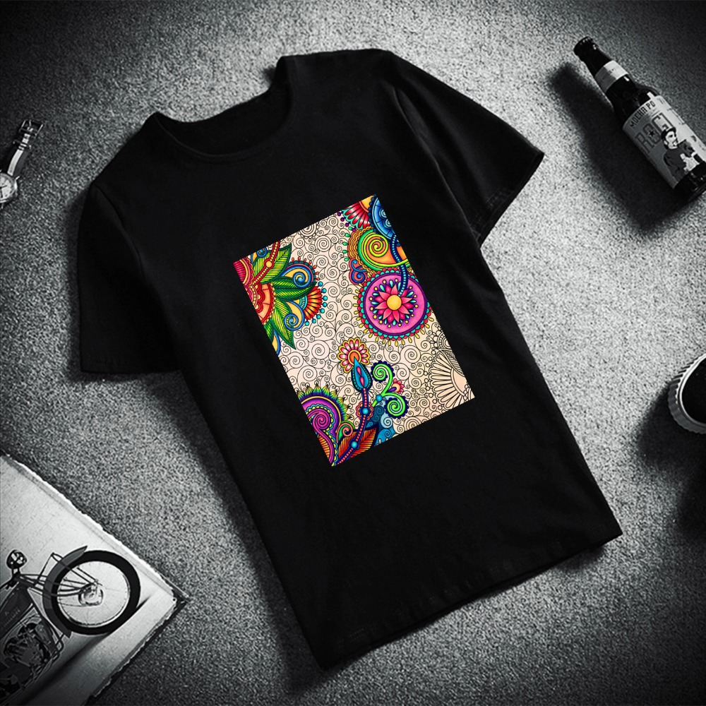 New 100% Cotton Women Tshirt Passover Traditional Art Print Short Sleeve Top & Tee Fashion Casual T Shirt Unisex Brand Clothing