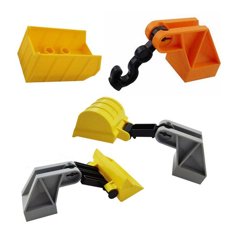 Duploe Traffic Large Building Block Slide DIY Classic Piece Big Size Set Toy Accessories Compatible Legoe  Fire Truck Forklift