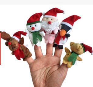 Christmas hand Puppets lovely cartoon character modeling finger even Christmas Children's Day