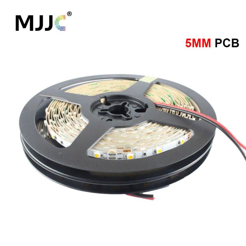 5MM LED Strip 3528 12V 5M 300 SMD Flexible LED Tape Stripe Lights Non-Waterproof Warm Cool White Ribbon Light