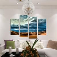 Fashion Dark Cloud Desert Living Room Wall Art Canvas Painting Fashion HD Home Decoration 4 sets Large Art Print Poster No Frame