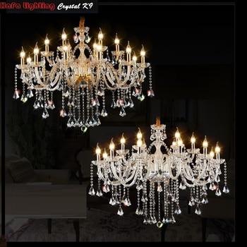 LED  chandelier Lighting Luxury Fashion LED Crystal Chandeliers Light K9 Crystals Lamp Hotel Lighting Room Chandelier light