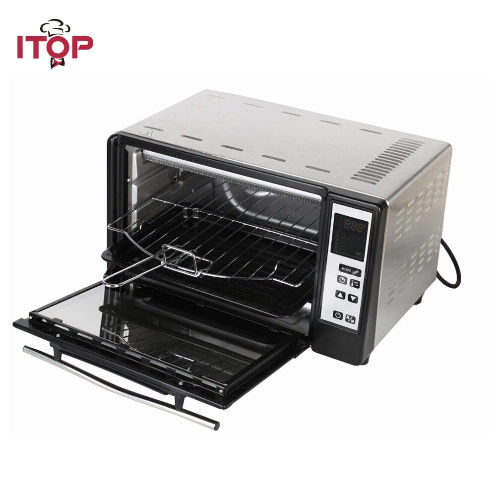 ITOP électrique ménage four Pizza pain Kebab multifonctionnel cuisinière EU Plug 5 Mode de cuisson peut être choisi